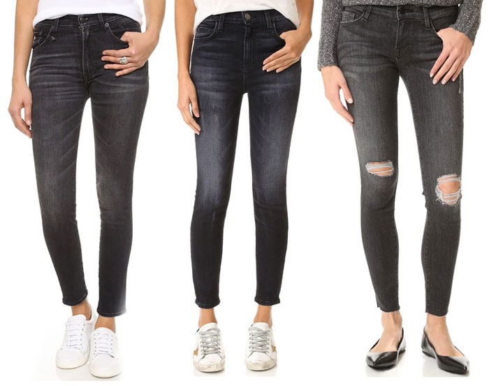 Faded Black Denim for Fall - Jeans