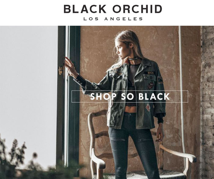 The So Black Denim Collection at Black Orchid