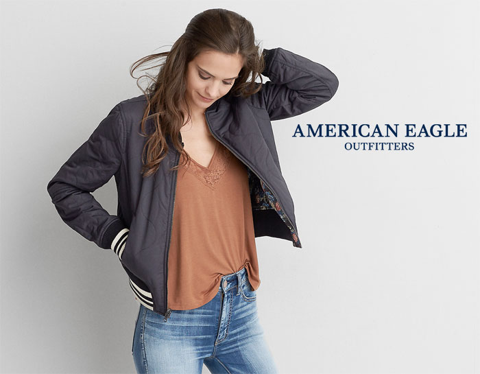 New Bomber Jackets for Fall at American Eagle Outfitters