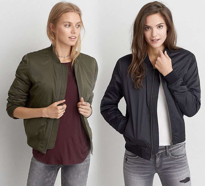 New Bomber Jackets for Fall at American Eagle Outfitters - Classic Bomber