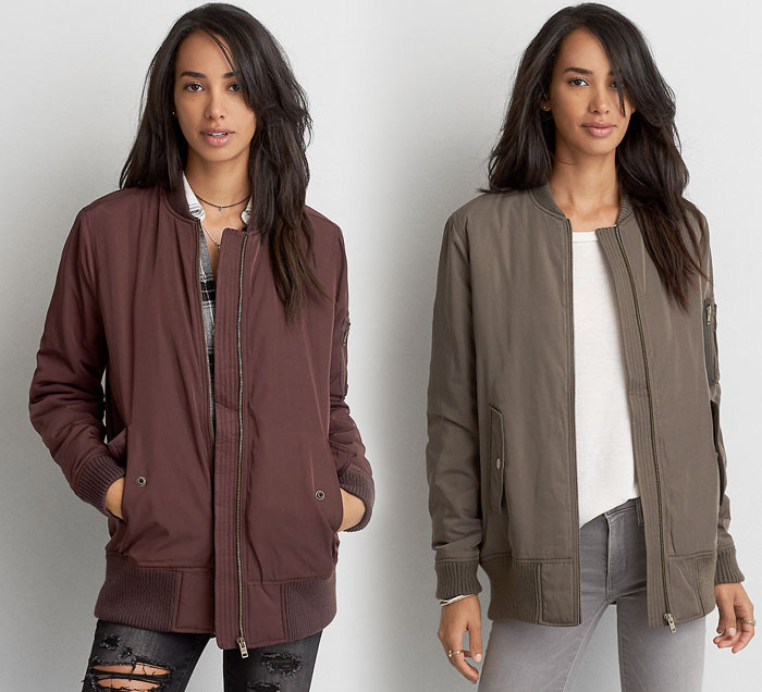 New Bomber Jackets for Fall at American Eagle Outfitters - Long Bombers