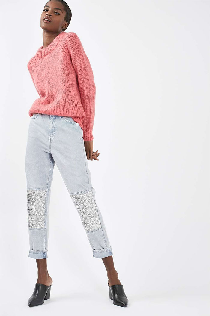Limited Edition Glitter Jeans at Topshop - Mom Jeans