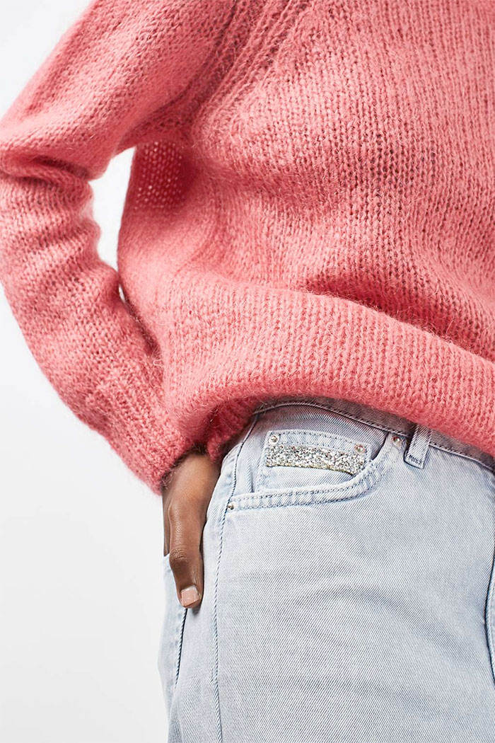 Limited Edition Glitter Jeans at Topshop - Mom Jeans Pocket
