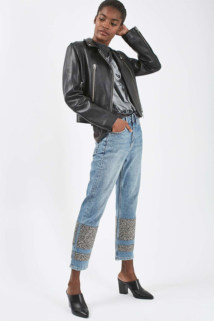 Limited Edition Glitter Jeans at Topshop - Straight Leg