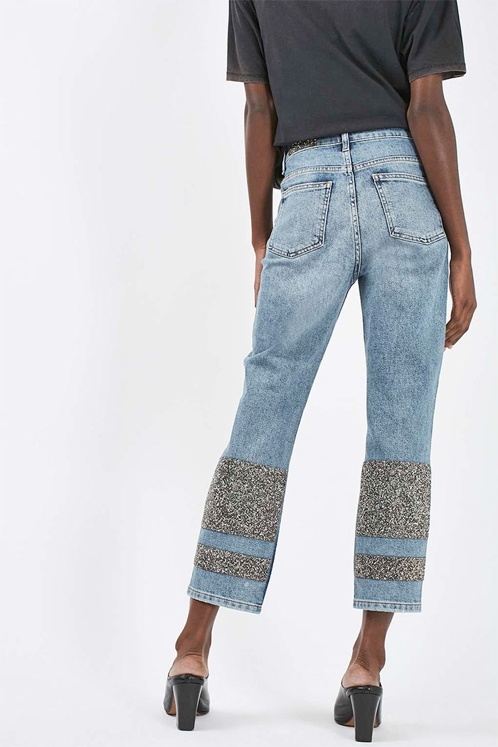 Limited Edition Glitter Jeans at Topshop - Straight Leg Back