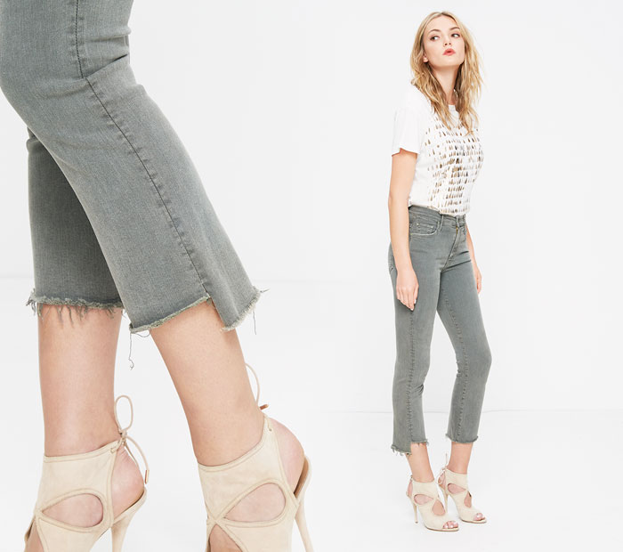 The Step Fray by Mother Denim - Insider in Faded Army