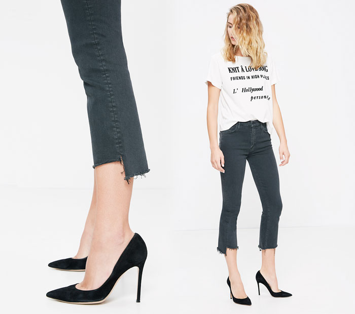 The Step Fray by Mother Denim - Insider in Faded Black