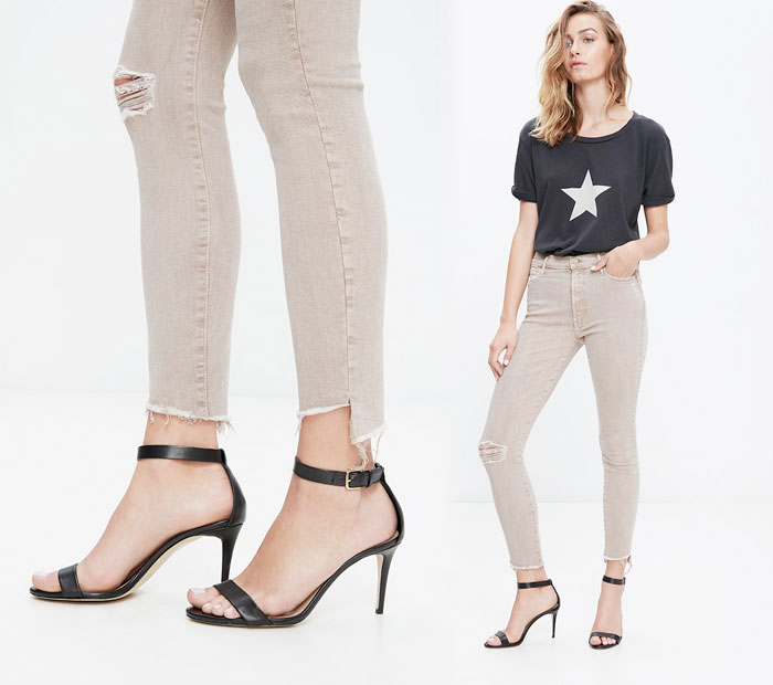 The Step Fray by Mother Denim - Stunner in Sand