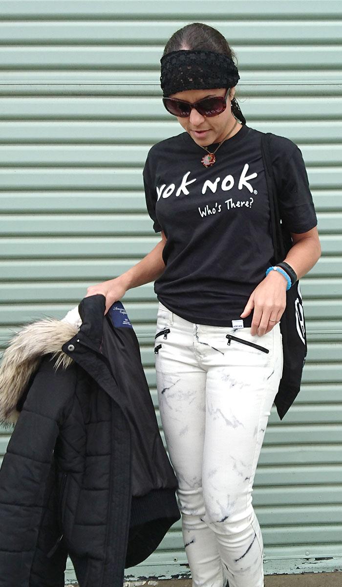 Hanging out with Nok Nok - Closeup