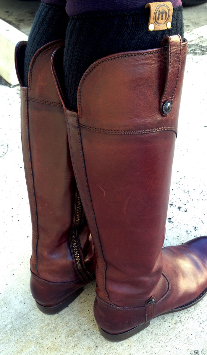 My New Frye Melissa Tab Riding Boots - Back Closeup