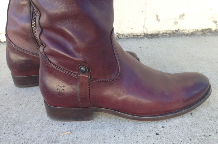 My New Frye Melissa Tab Riding Boots - Foot Closeup