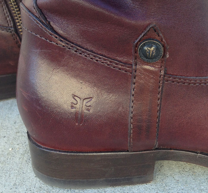 My New Frye Melissa Tab Riding Boots - Foot Detail