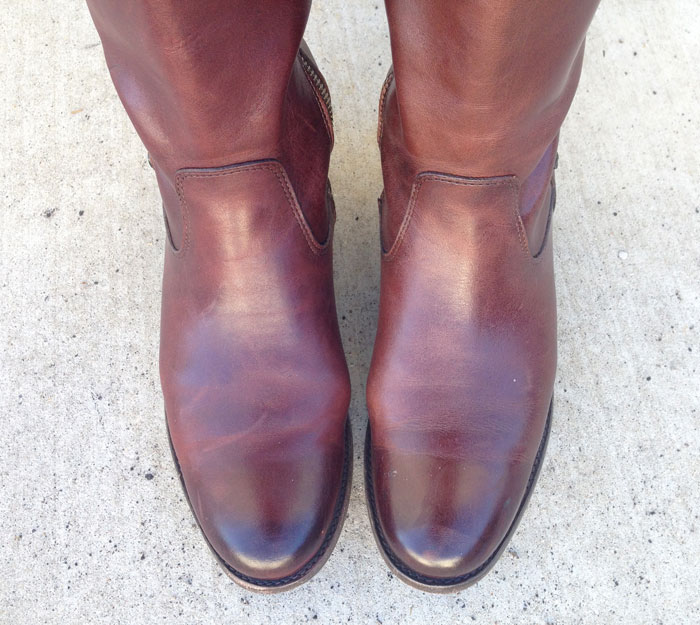 My New Frye Melissa Tab Riding Boots - Top Closeup