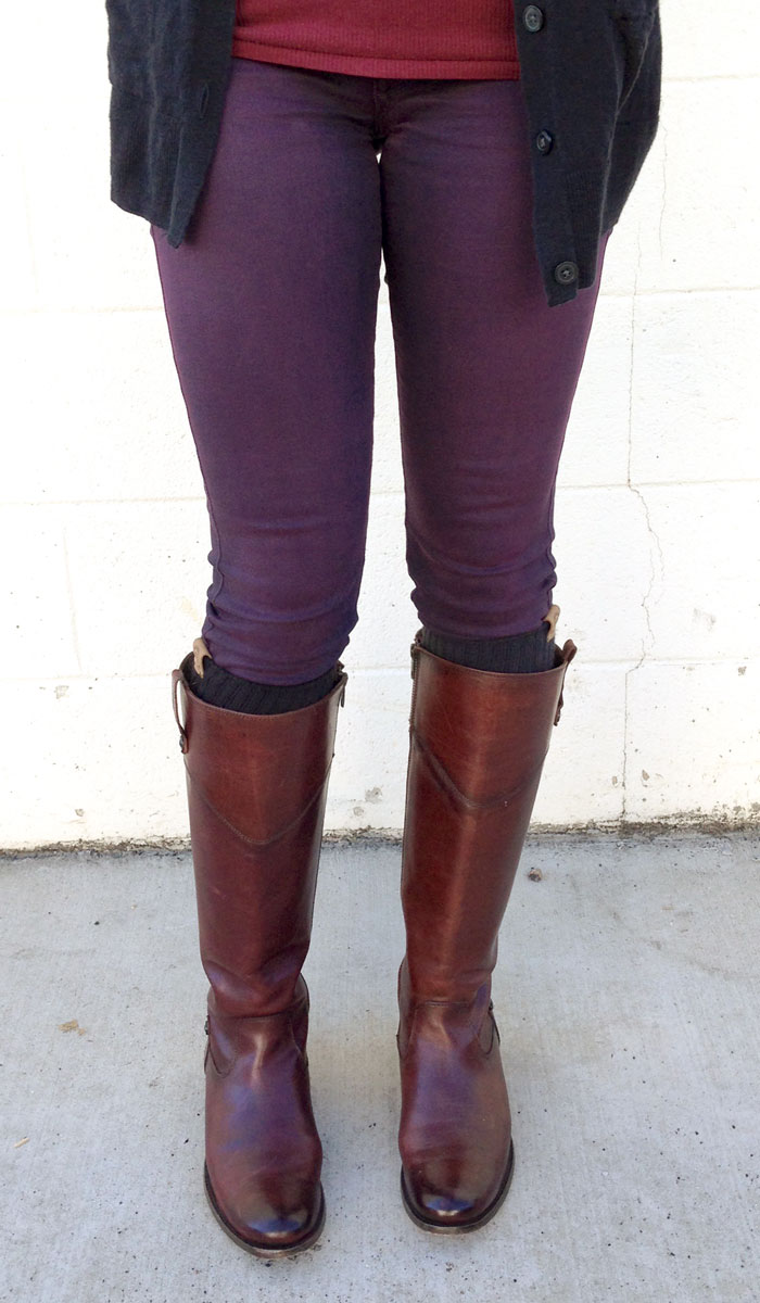 My New Frye Melissa Tab Riding Boots - Front Full Shot