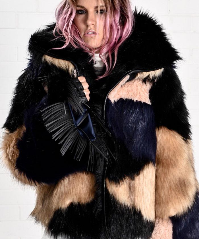 New Winter Coats by One Teaspoon - Rio Grande Le Crop Fur