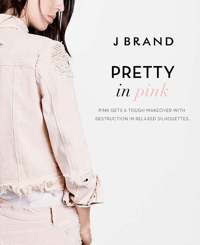 Pretty in Pink Destroyed Denim at J Brand