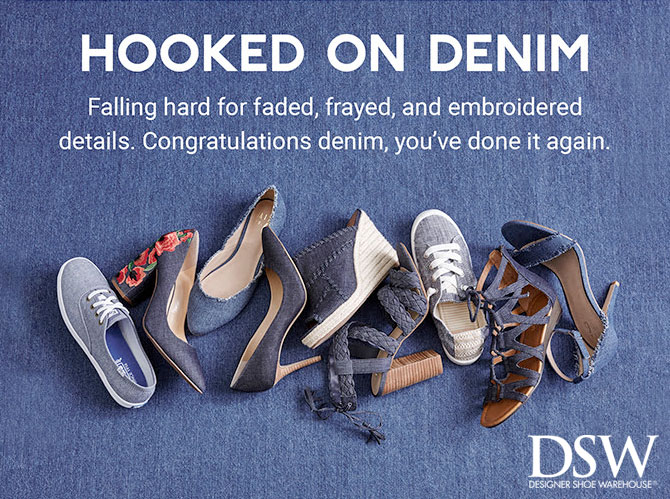 Head Turning Spring Denim Footwear from DSW