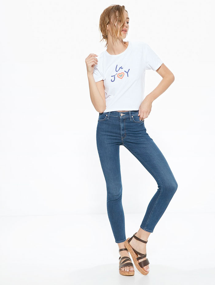 Miranda Kerr x MOTHER for the Royal Hospital for Women - T-Time Crop Shirt and Audrey Jean