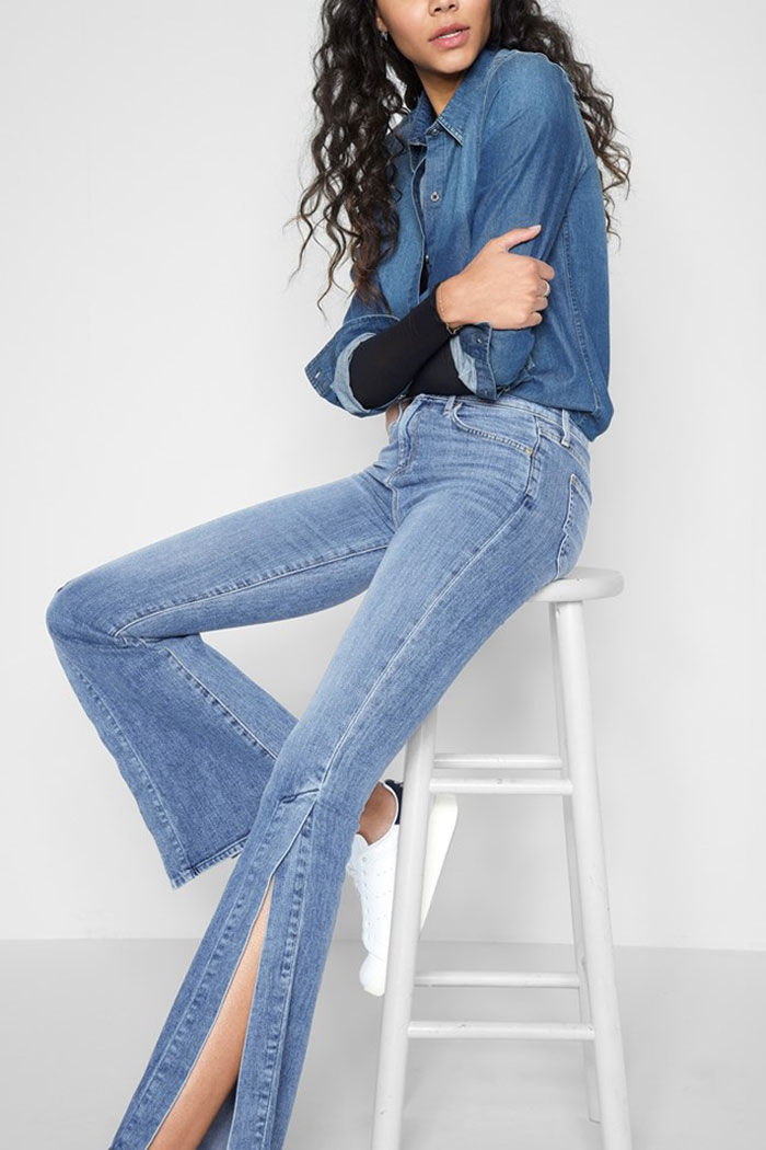 New Detailed Denim for Spring by 7 For All Mankind - Ali Side Seam Split