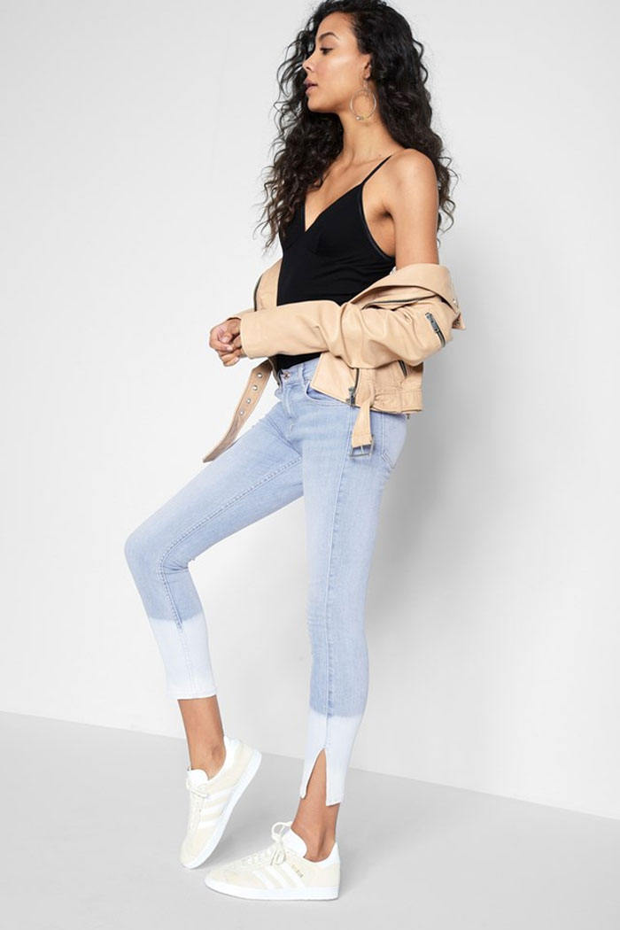 New Detailed Denim for Spring by 7 For All Mankind - Ankle Skinny Side Slit