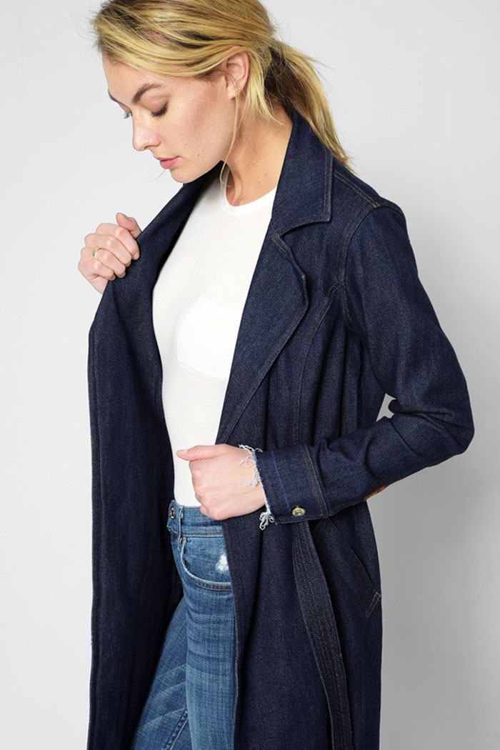 New Detailed Denim for Spring by 7 For All Mankind - Trench Coat