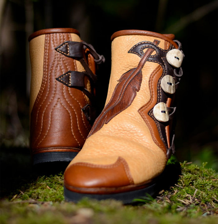 Custom Artisan Leather Footwear by Soul Path Shoes - Feather And Leather