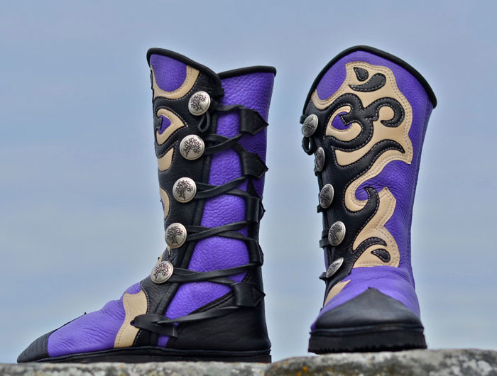 Custom Artisan Leather Footwear by Soul Path Shoes - Om Yoga