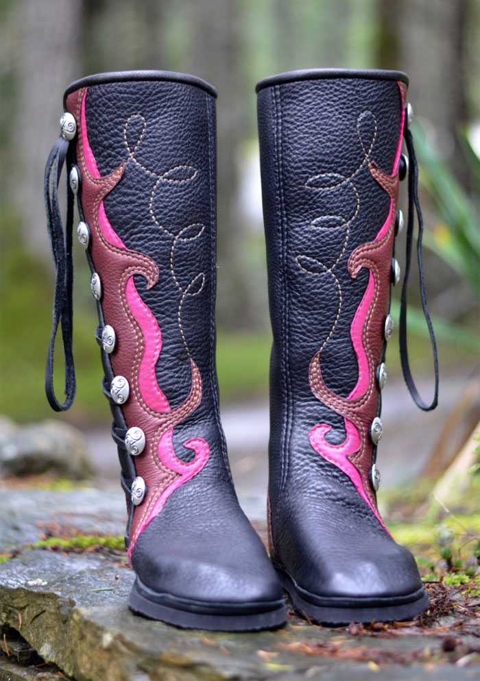 Custom Artisan Leather Footwear by Soul Path Shoes - Spiraling Goddess