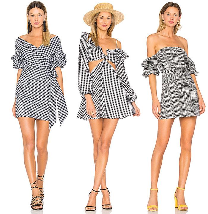 Flirty Black and White Gingham Looks from REVOLVE - Dresses