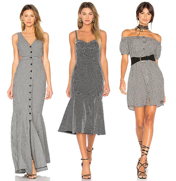 Flirty Black and White Gingham Looks from REVOLVE - Dresses 2