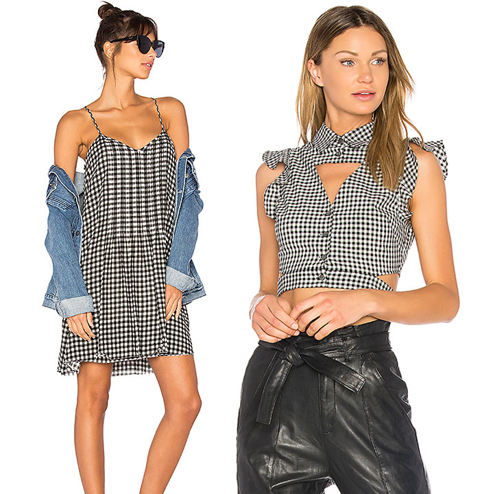 Flirty Black and White Gingham Looks from REVOLVE - Top and Dress