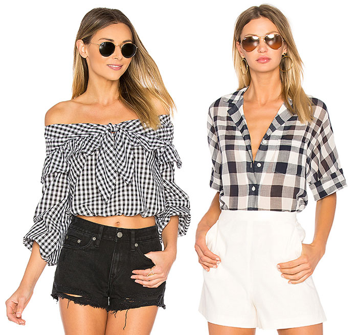 Flirty Black and White Gingham Looks from REVOLVE - Tops