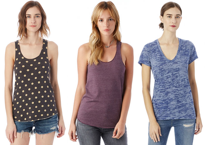 Sustainable and Soft Closet Essentials from Alternative - Tanks and Tee