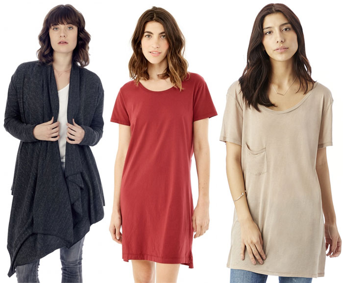 Sustainable and Soft Closet Essentials from Alternative - Wrap and Tunic Tees