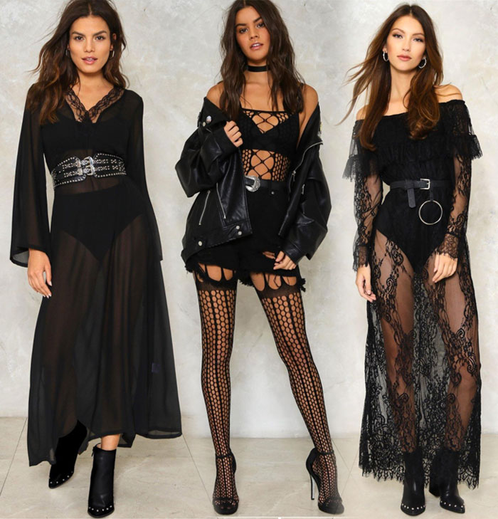 My Picks from the Nasty Gal 40% Off Sale - Long Dresses and Body Stocking