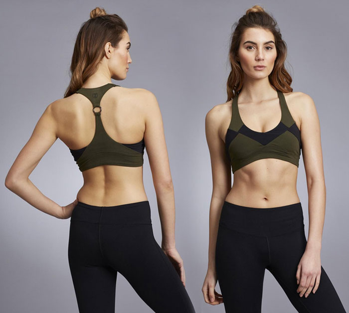 New Beautiful Activewear Designs from Zobha - Wylde Bra (Front and Back)