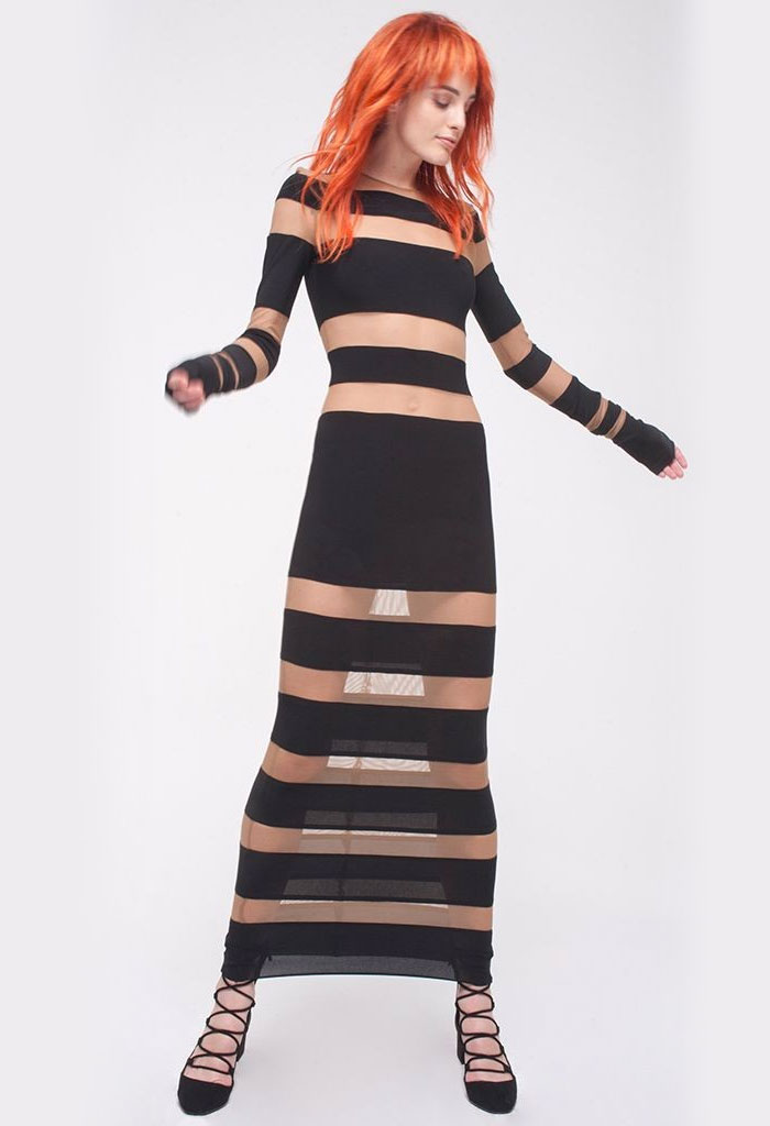 Incredibly Unique Styles that Empower Women by Norma Kamali - Spliced Dress