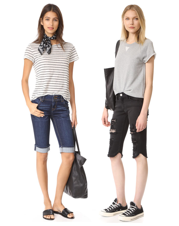 Knee Length Bermuda Shorts for Work or Weekends