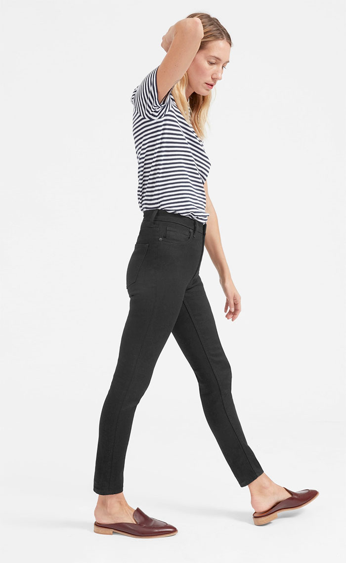 The New Eco Friendly Denim Line from Everlane - High Rise Skinny in Black
