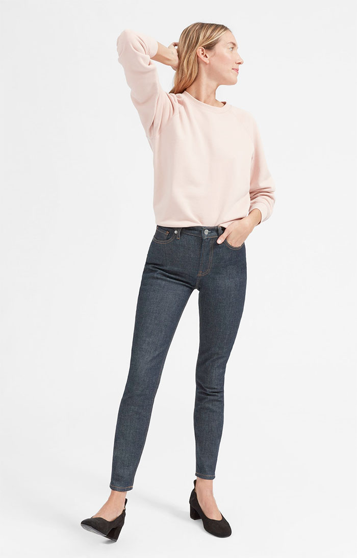 The New Eco Friendly Denim Line from Everlane - High Rise Skinny in Dark Indigo