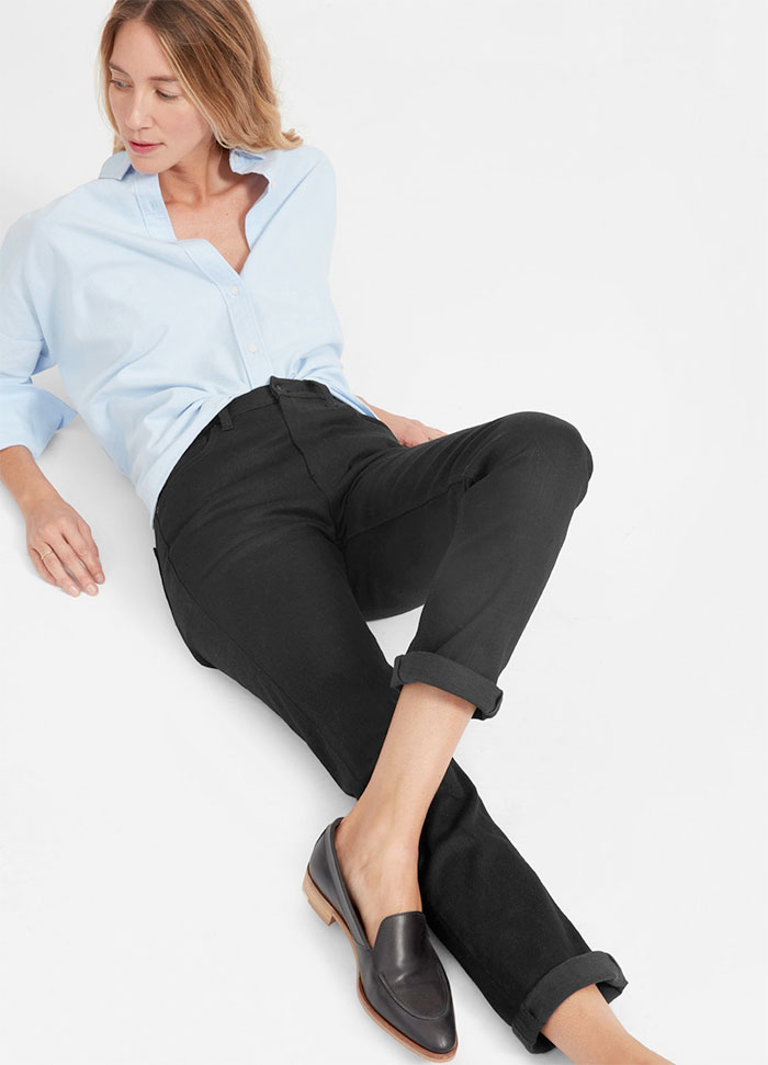 The New Eco Friendly Denim Line from Everlane - Modern Boyfriend in Stay Black