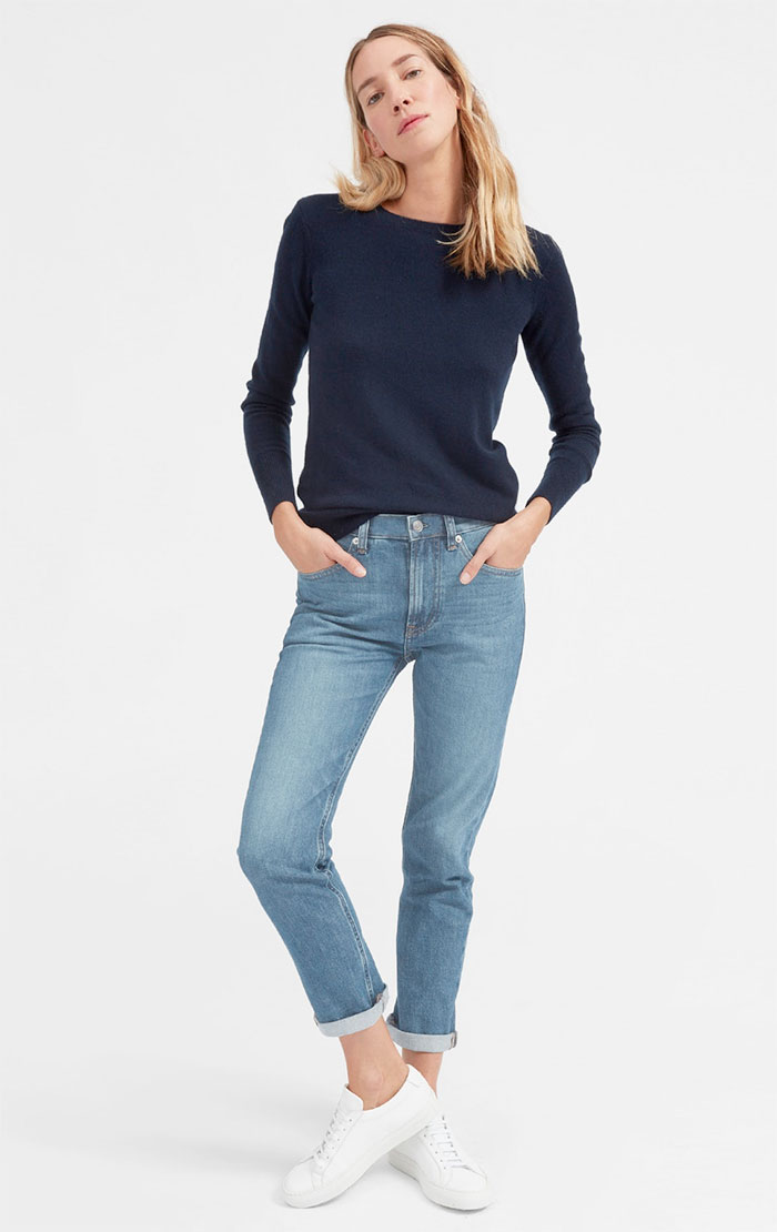 The New Eco Friendly Denim Line from Everlane - Modern Boyfriend in Mid Blue