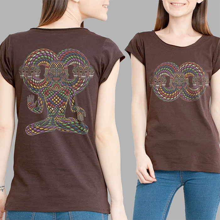 Psychedelic Tees and Tanks by Symbolika  - Visionary Tee Brown