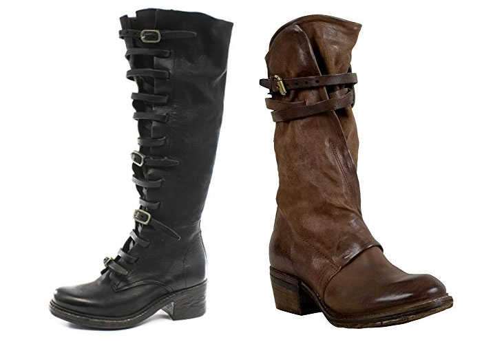 Superior Unique Leather Boots with Attitude by A.S.98 - Tall Boots