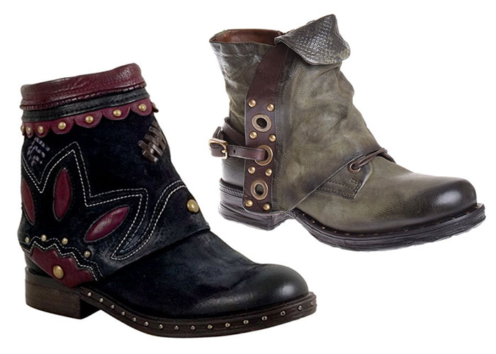 Superior Unique Leather Boots with Attitude by A.S.98 - Short Boots 2