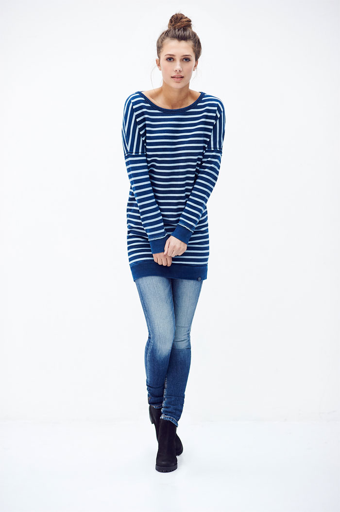 Sustainable and Organic Denim and Apparel by Kuyichi - Violet Tee - Gillian Stripe Sweat Dress