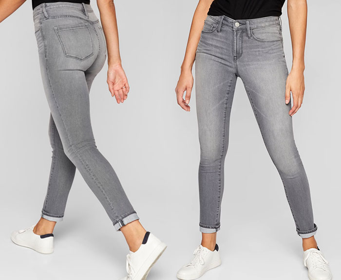 The New Sculptex Skinny Jean for Active Comfort from Athleta - Grey 3