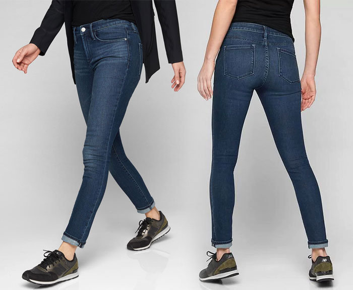 The New Sculptex Skinny Jean for Active Comfort from Athleta - Dark Wash 4