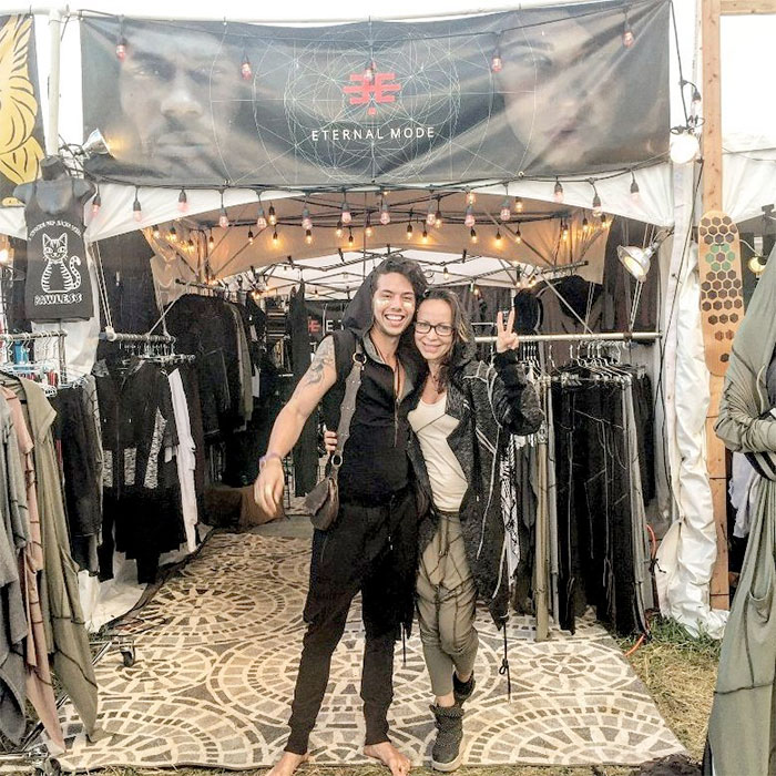 Cutting Edge Unisex Festival Apparel by Eternal Mode - Festival Booth