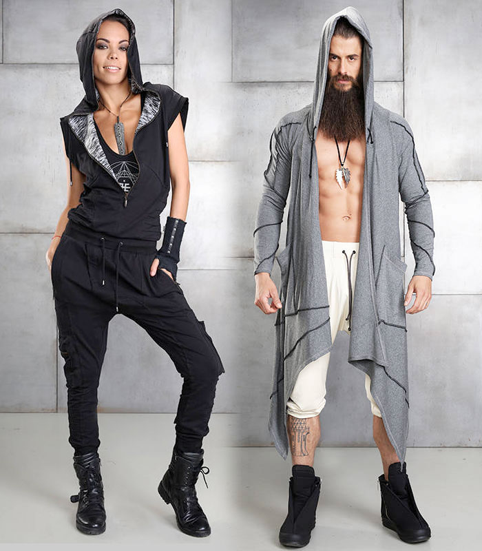 Cutting Edge Unisex Festival Apparel by Eternal Mode - Woman and Man
